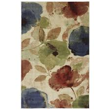 mohawk home area rugs shop mohawk home watercolor floral rectangular cream floral tufted