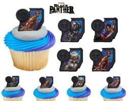marvel cake toppers black panther topper etsy