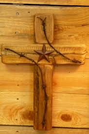 wooden cross wild west collection rustic cross with texas star