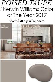 sherwin williams poised taupe color of the year 2017 incredible