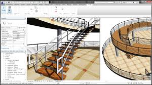 bim revit stairs tutorial 01 curve staircase curve railings and