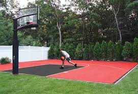 Basketball Court Outdoor Or Indoor Home Basketball Flooring Kits - Home basketball court design