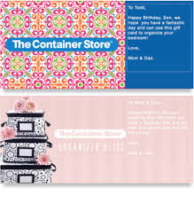 send an egift card gift cards the container store