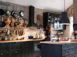 cuisine industrie cuisine mur de casseroles ikea מטבחים küche