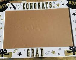 graduation frame grad photo booth etsy