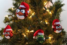 obsessively stitching angry birds ornaments