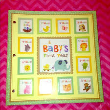 baby 1st year book baby s year album baby story book large from catherine s