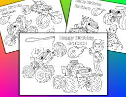 chuggington coloring book personalized blaze and the monster machines coloring pages