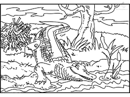 a crocodile coloring st printable crocodile coloring page for