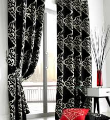Jacquard Wallpaper Living Room Curtains For Living Room Elegant Black And White Curtains For