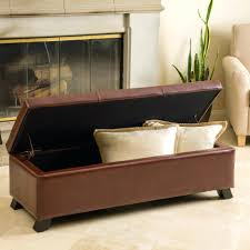 Brown Leather Ottoman Kenwell Tray Top Storage Ottoman Coffee Table Ning Red Leather