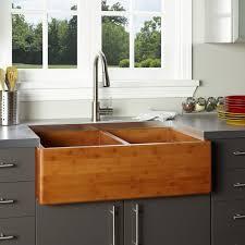 Farm House Sinks Alfi Brand Abw Inch Smooth Fireclay - Farmhouse double bowl kitchen sink