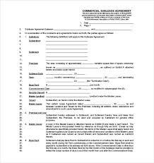 sublease agreement template u2013 15 free word pdf document download