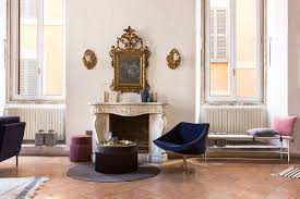 16th century roman palazzo combines frescoes and modern decor curbed
