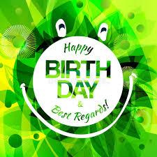 happy birthday card with frog label stock vector image 43160504