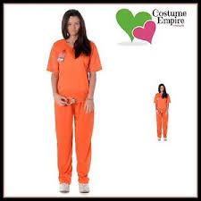 Orange Black Halloween Costumes Orange Black Women U0027s Prisoner Halloween Fancy Dress