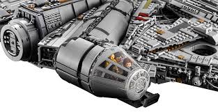 the new 7 541 piece lego millennium falcon is the biggest and most