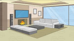 cartoon living room background a modern comfy living room background cartoon clipart vector toons