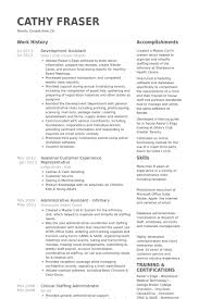 development assistant resume samples visualcv resume samples