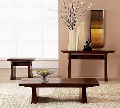 Living Room Table Sets Eastern Influence With Western Style Comfort Asian Style Coffee