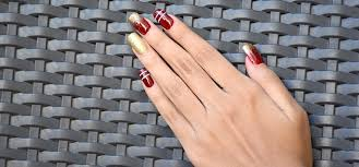 2 holiday nail art designs with stepwise tutorial and pictures