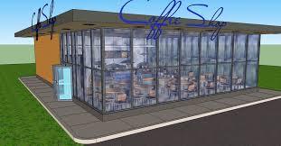 layout denah cafe coffee shop 3d cad model library grabcad