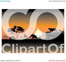 safari jeep front clipart royalty free rf clipart illustration of an orange safari sunset