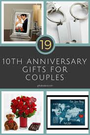 10th anniversary gift ideas for him 26 great 10th wedding anniversary gifts for couples 10th wedding