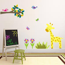 Jungle Nursery Wall Decor Giraffe Wall Decal Jungle Nursery Nursery Wall Decor Giraffe Wall