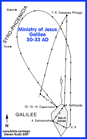 bible maps the ministry of jesus 30 33 ad