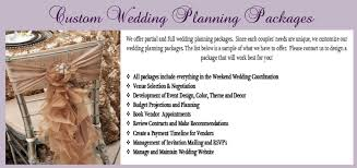 wedding planner packages exqusitely designed events by online