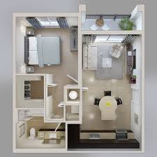 One Bedroom Apartment Plans And Designs Marvelous 50 One 1 Bedroom Apartment House Plans At Small