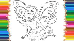 barbie fairy princess coloring pages l coloring markers videos for