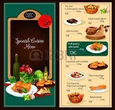 spanische k che vector ü vorlage der türkischen küche restaurant lizenzfrei
