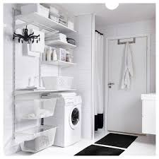 algot wall upright shelves drying rack white 132x41x199 cm ikea