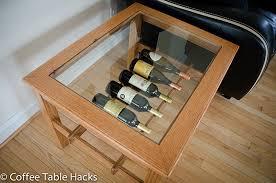 Wine Coffee Table Oak Coffee Table With Wine Rack By Coffeetablehacks