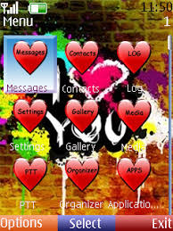 themes of java free download i love you theme for java app