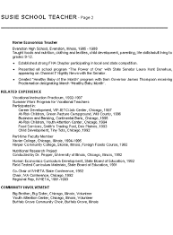 Instructor Resume Samples Teacher Resume Sample 21 Home Economics Teaching Resume Example