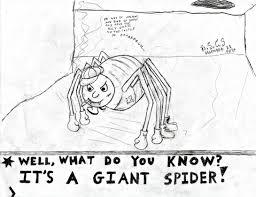 well waddya know it u0027s a giant spider sketch by sierragamer on