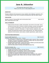 Nursing Student Resume Samples Resume Template 70 Well Designed Examples For Your Inspiration