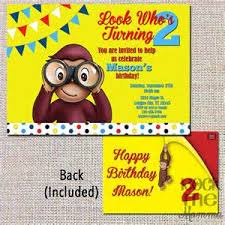 george birthday invitation template invitations curious