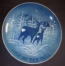 grondahl 7 jule after i skoven for jul collector plate