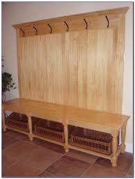 coat rack with storage bench plans bench home decorating ideas