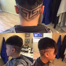 this is a versace haircut performed at fades barbershop and a