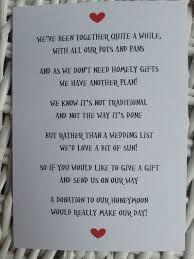 wedding gift not on registry wedding gift poems