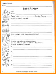 third grade book report template book report template book report worksheet book report outline 6th