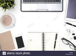 White Office Desk by Frame Of White Office Desk Table Background With Computer