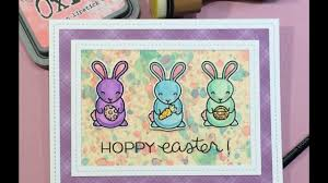 hoppy hollow easter distress oxide painting background featuring lawn fawn hoppy