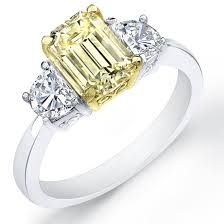 canary engagement rings ct canary fancy yellow emerald cut engagement ring