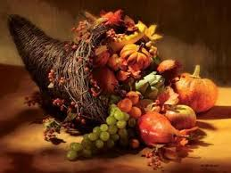 happy thanksgiving jesus is the horn of plenty paperblog